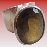 Smoky Topaz 925 Silver Ring
