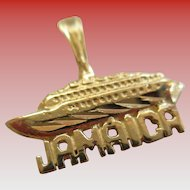14Kt YG Cruise ship Charm/Pendent