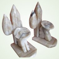 1970s Onyx/Sleeping Hombres Bookends