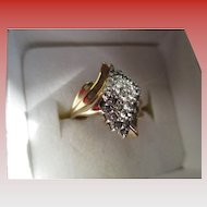 10 k Yellow Gold-1/4 carat Ring