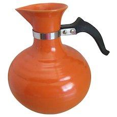 Vintage Pottery/Orange Ring Coffee/Water Carafe