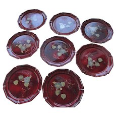 Vintage Lacquerware Occupied Japan 8/Coasters