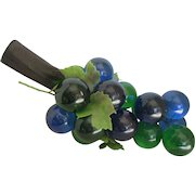 1960s-70s Lucite Grape Cluster-Blue/Green