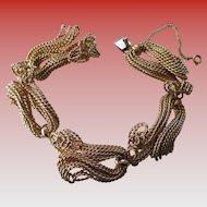 Napier Classic  Gold tone Twist Rope Bracelet