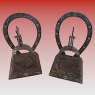 Bookends Caballero Silver inlay Horseshoes and Spurs