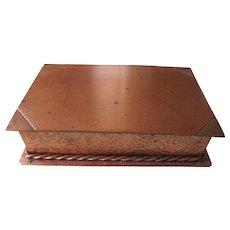 Hammered Copper Small Handmade Box