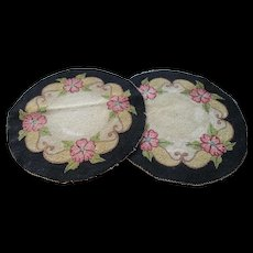 "1940s Round 9"" Hooked Doilies (2)"