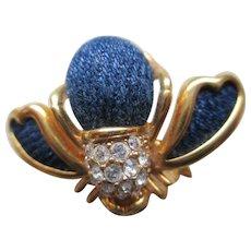 Joan River Denim Body Bee Brooch