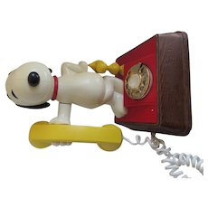 Snoopy and Woodstock 1976 Rotary Dial Phone