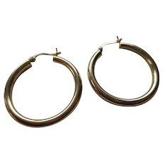 14 kt 585 European Gold Hoop Earrings