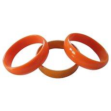 Lucite Bangle Bracelets Set of (3)