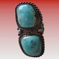 Turquoise -Cripple Creek/Silver 925  Ring