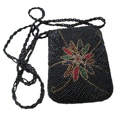 Vintage Beaded Shoulder Purse