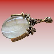 Vintage Faux Pearl/Rhinestone Magnifier Glass
