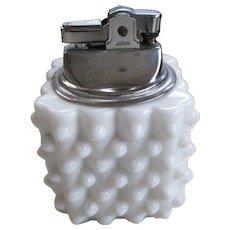 Fenton Hobnail Milk Glass Lighter