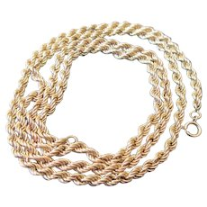 14 kt YG Rope Chain