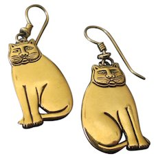 Laurel Burch Cat Wire Earrings