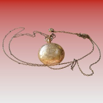 Antique 14 k Hunter Fahys Monarch Waltham Pocket Watch