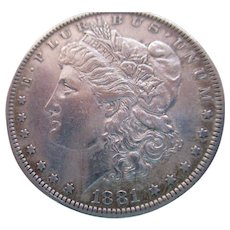 Morgan 1881 Silver Dollar