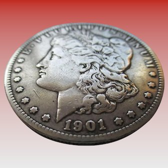 Silver 1901 Morgan Dollar