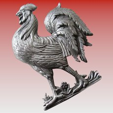 JJ Pewter Rooster Pin