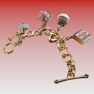 Vintage Juicy Courture Link Charm Bracelet