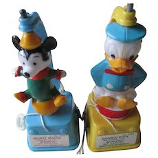 Mickey and Donald Set (2) Spinikin Toys