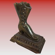 Brass-Victorian Style Boot Match Holder