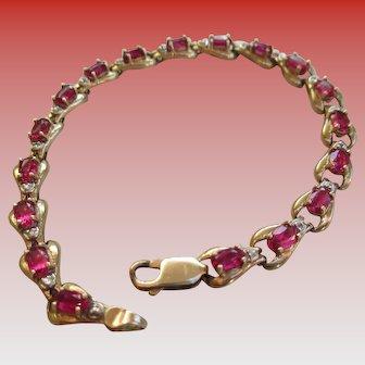 Red Topaz 1-14-20 Gold Filled Bracelet