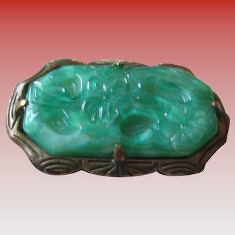 Vintage Peking Glass Brooch