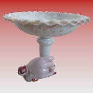 Lefton China Japan Hand Holding Compote