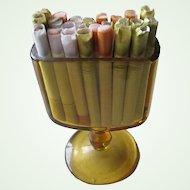 1960s Amber Glass Cigarette Holder