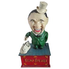 Vintage Stump Speaker Mechanical Bank