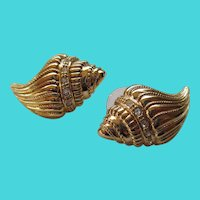 KJL for Avon Sea Shell Post Earrings