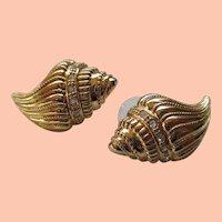 KJL for Avon Sea Shell Post Earrings