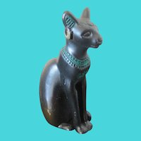 1986 TFM Metal Figural Egyptian Sitting Cat