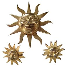 Alva's Museum Replica Brusting Sun Set Pins