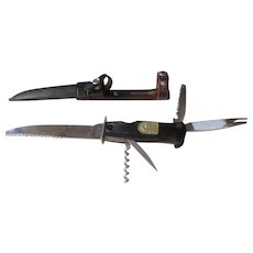 1940s  WW11 / Hunting 5 Blade Decora-Solongen Knife and Sheath