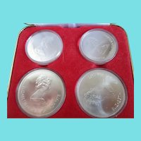 Olympic Canadian Coins/92.5 Silver Set of 4