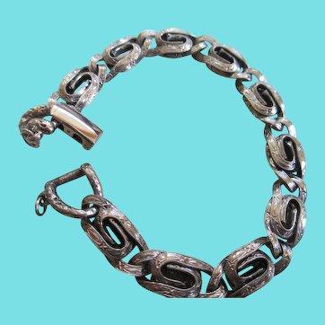 Goldette NY 1955 Silvertoned Lacy Style Bracelet