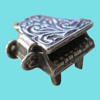 Sterling 925 Adorable Piano Charm