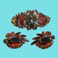 Julianna Unsigned 1960s Stunning Bracelet and Earrings