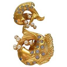 Elizabeth Taylor 1994 Book Piece Sea Shimmer Earrings