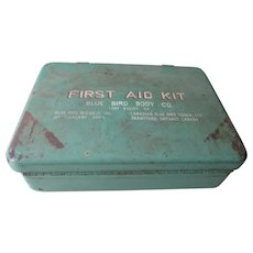 1960s Blue Bird First Aid Kit