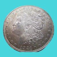Morgan 1921 Silver Dollar