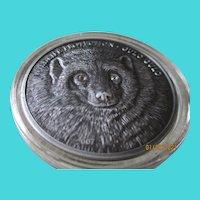 999. Silver Mongolia 2007/500 Togrog Silver Coin