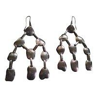 Silver 925 Wire Chandelier Earrings