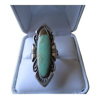 Sterling Silver/Bell Trading Post Turquoise Ring