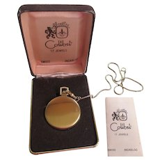 Vintage Colibri 17 Jewel Swiss Incabloc Pocket Watch