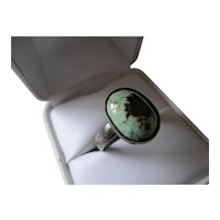 925 Sterling Silver Cabochon Turquoise Ring